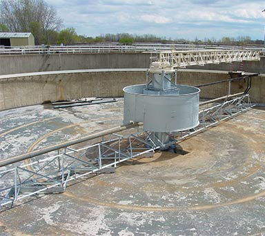 Secondary Clarifier after rebuild