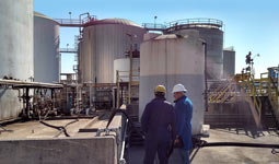 Site visit and evaluation at a downstream refinery