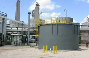 Solids Contact Clarifier Treats Raw Water for Midstream Oil & Gas Facility