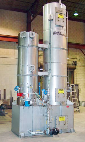 Packed Tower Scrubber with Quench Tower for sulfur dioxide scrubbing