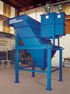 Monroe vertical inclined plate lamella type clarifier