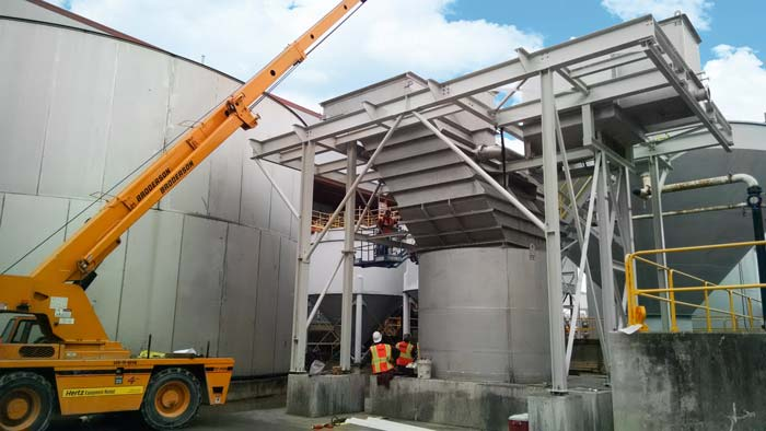 Vertical Clarifier installation