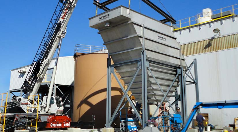 Installation of a Lamella Vertical Plate Clarifier