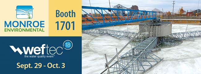 Monroe Environmental is in booth 1701 at Weftec 2018