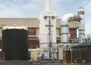 Wet Scrubber for HCl & Cl2 from RTO