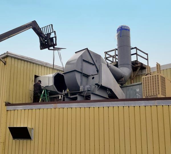 Wet scrubber rebuild for chrome plating plant